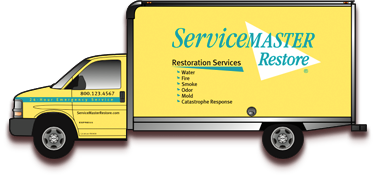 24 Hour Fire Damage Restoration Bluffton IN - ServiceMaster Restore - truck